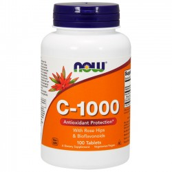 Vitamin C-1000 (100 tabs) - Now Foods
