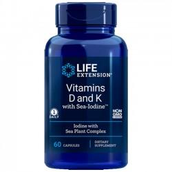 Vitamina D e K (60 cápsulas) - Life Extension