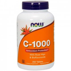 Vitamina C-1000 (250 tabletes) - Now Foods