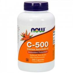 Vitamina C-500 Cálcio (250 cápsulas) - Now Foods