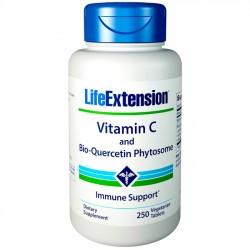 Vitamina C e Fitossomo Bio-Quercetina (250 tabletes) - Life Extension