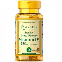 Vitamina D3 10,000 IU (100 softgels) - Puritan's Pride