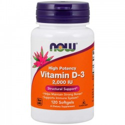 Vitamina D3 2000 (120 softgels) - Now Foods