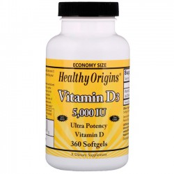 Vitamina D3 5000UI (360caps) - Healthy Origins