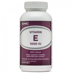 Vitamina E 1000IU (60 softgels) - GNC