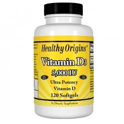 Vitamina D3 5000UI (120 softgels) - Healthy Origins