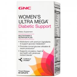 Women's Ultra Mega Diabetic Support (90 caps) - GNC