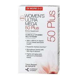 Womens Ultra Mega 50 Plus - 60 Cápsulas - GNC