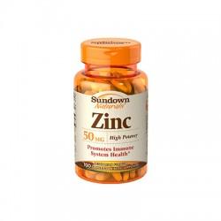 Zinco 50mg - 100 Cápsulas - Sundown Naturals