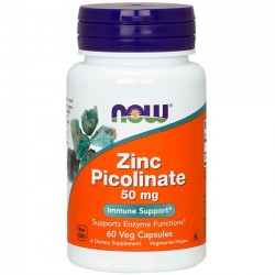 Zinc Picolinate 50mg (60 cápsulas) - Now Foods