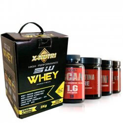 Combo - Whey Protein 5W 2kg X-Nutri + Pré-Workout Muscle Explosion 300g EHP + Creatina Pure 300g EHP + Glutamina 300g EHP + BCAA 1.G 120 cápsulas EHP