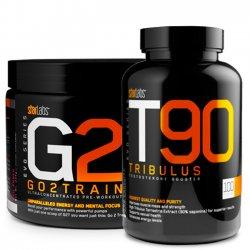Combo: Pré-Treino G2T 30 doses + T90 Tribulus 100 cápsulas