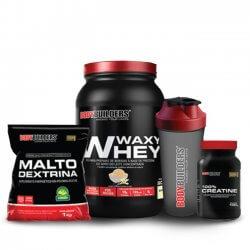 Combo Levantamento de Peso II - (Whey + Maltodextrina + Creatina + Coqueteleira) - BodyBuilders