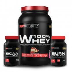 Combo Queima de Gordura - (Whey + BCAA + Termogênico) - BodyBuilders