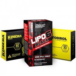 Combo: Somatodrol + Kimera + Lipo 6 Black Ultra Concentrado