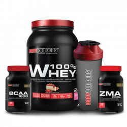 Combo Hormonal - (Whey + BCAA + Pré-Hormonal + Coqueteleira) - BodyBuilders